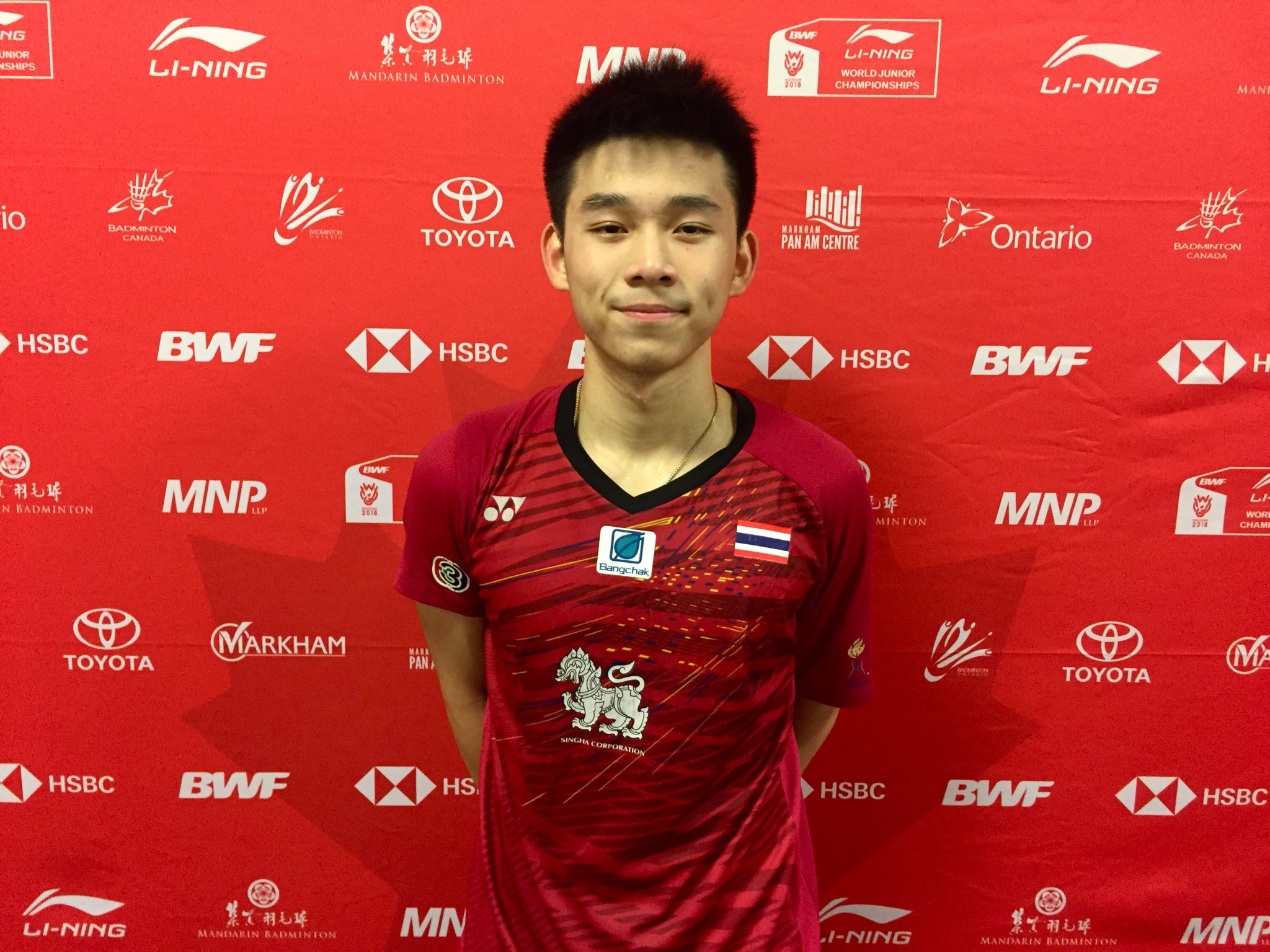 Thailand's top seed Kunlavut Vittidsam has advanced into the quarter-finals of the men's singles at the BWF World Junior Championships ©BWF