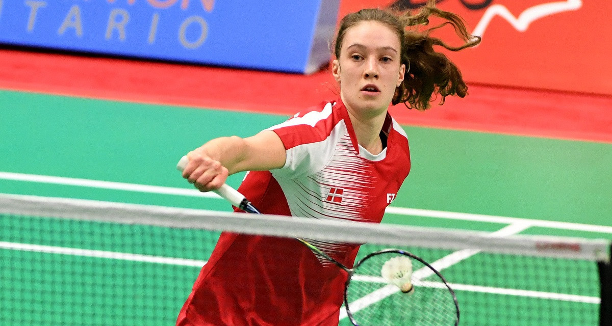 Line Christophersen from Denmark is into the quarter-finals of the women's singles having beaten the second seed ©BWF