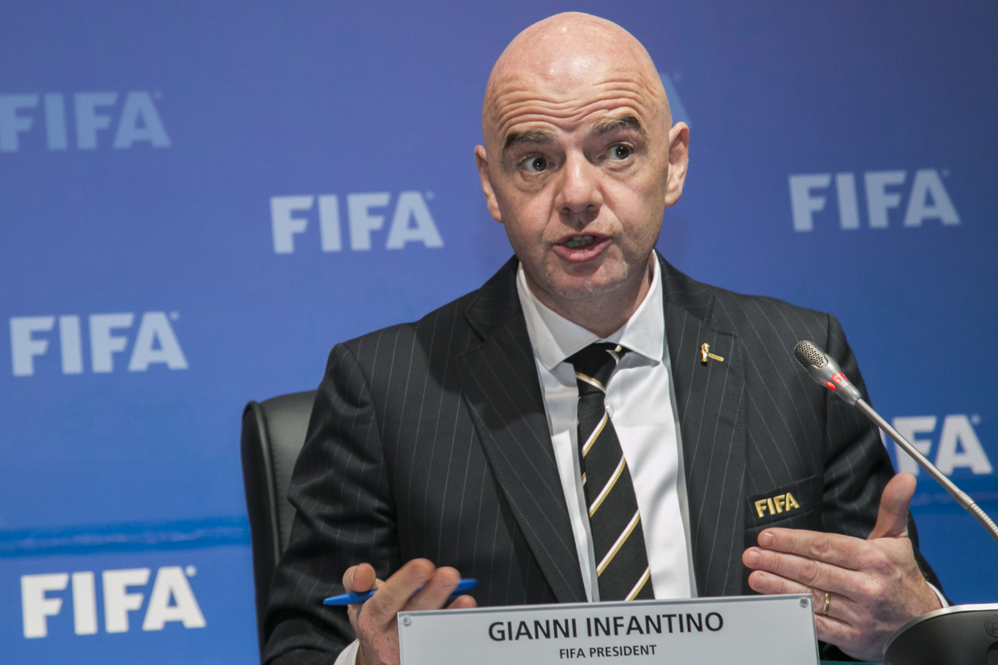 FIFA President Gianni Infantino has warned players against competing in any unauthorised competitions ©Getty Images