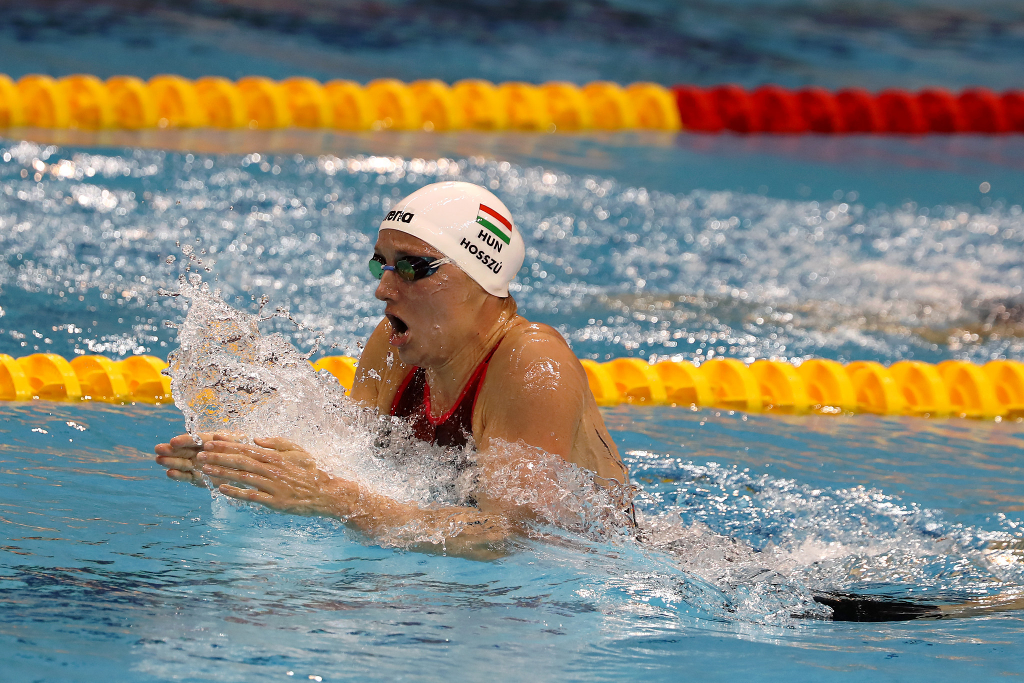 Katinka Hosszu picked up another win in the 400m individual medley ©Getty Images