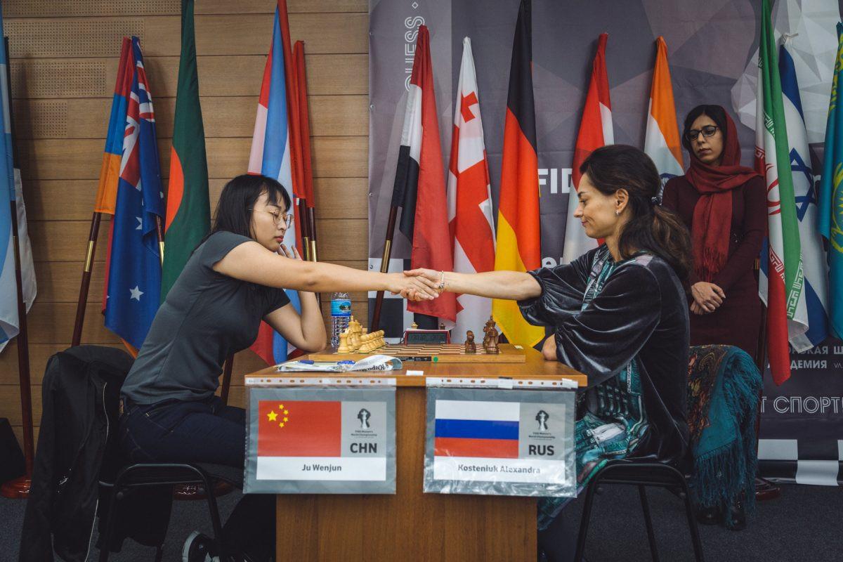 Ju Wenjun secured a place in the women's final in Russia ©Twitter/ugrachess