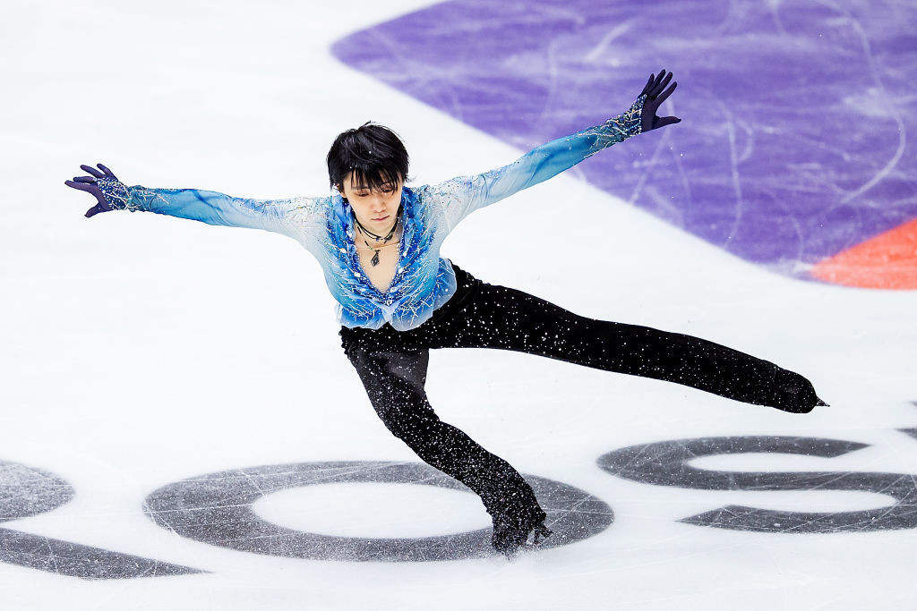 Japan's Yuzuru Hanyu is in the lead in the men's competition at the ISU Grand Prix of Figure Skating in Moscow ©ISU