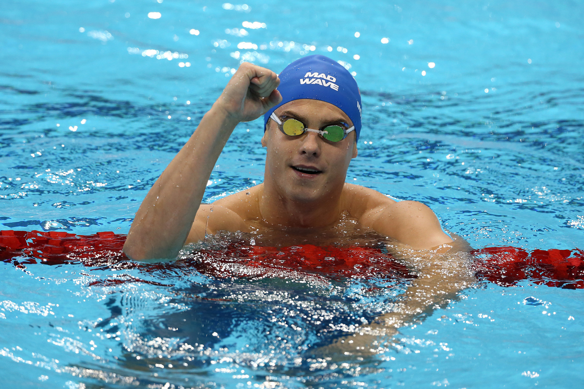 Vladimir Morozov backed up his incredible 100m freestyle win yesterday with victory in the 50m butterfly today ©Getty Images