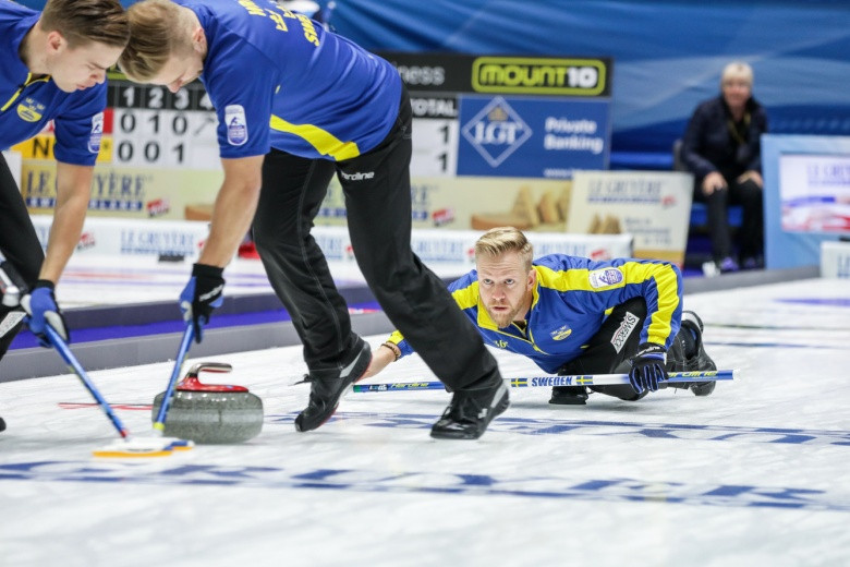 Defending champions Sweden win tight opening match at European Curling Championships