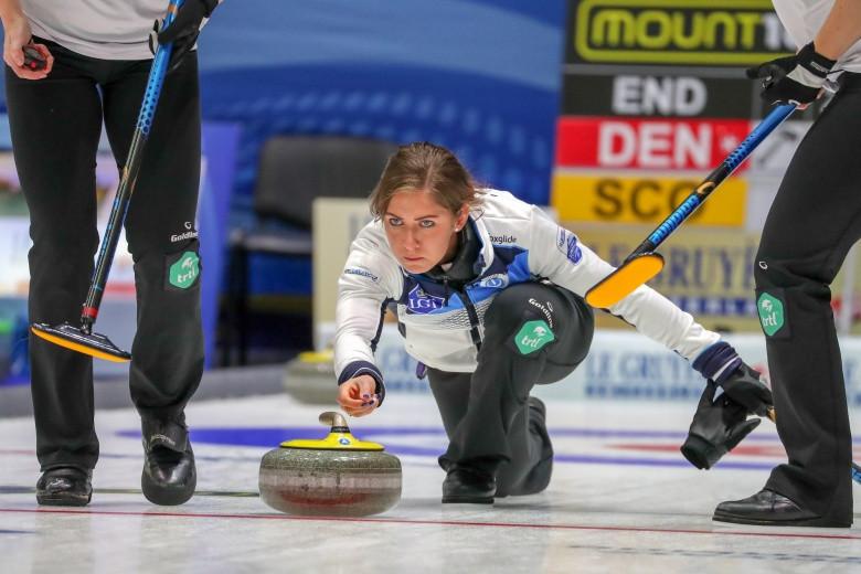Scotland were impressive winners against Denmark in their first match ©World Curling Federation
