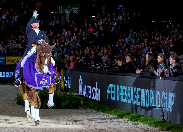 Werth hits form again at home Dressage World Cup in Stuttgart