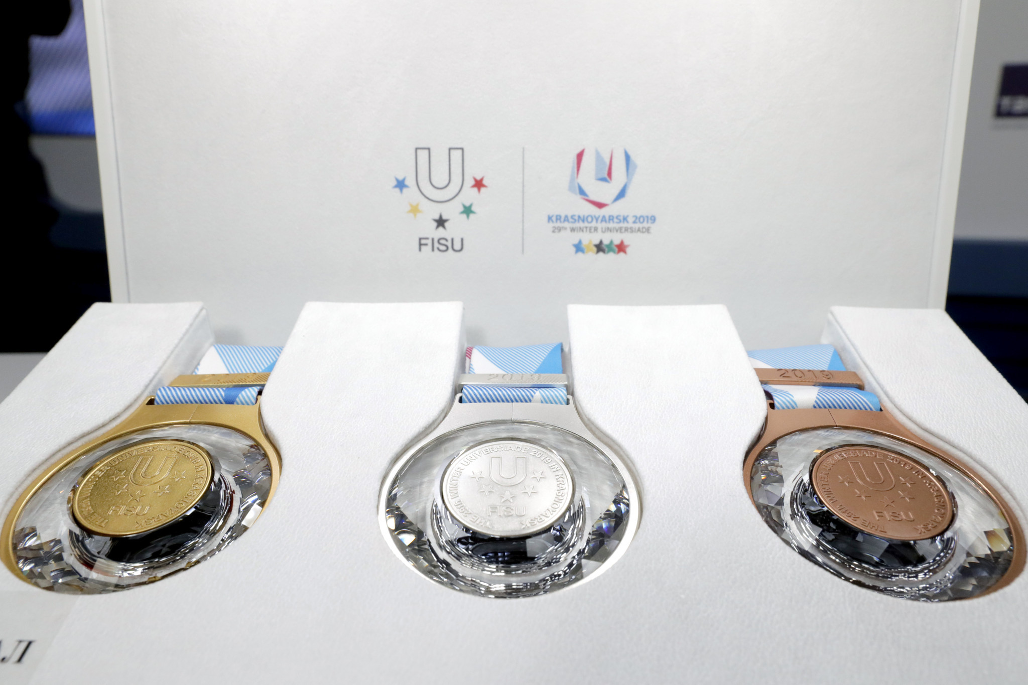 Krasnoyarsk 2019 reveal crystal-filled Winter Universiade medals