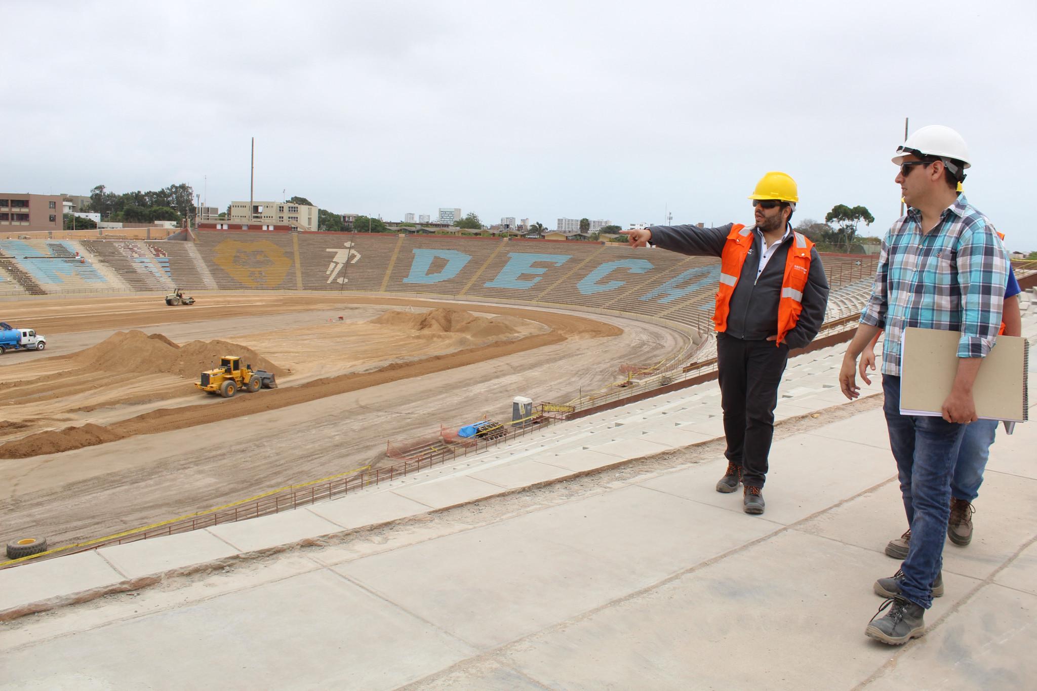 CONMEBOL delegation visits Lima 2019 football stadium