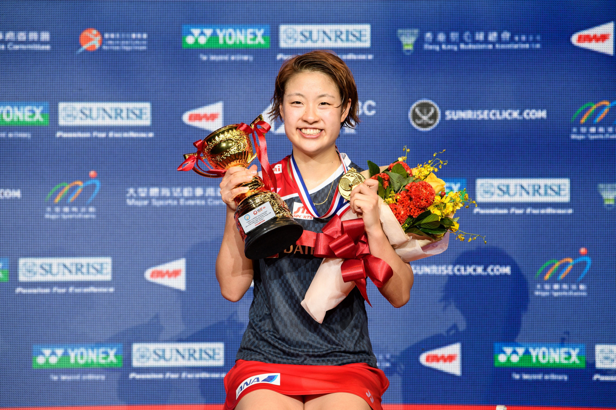 Japan's Nozomi Okuhara won the women's final of the BWF Hong Kong Open ©Getty Images