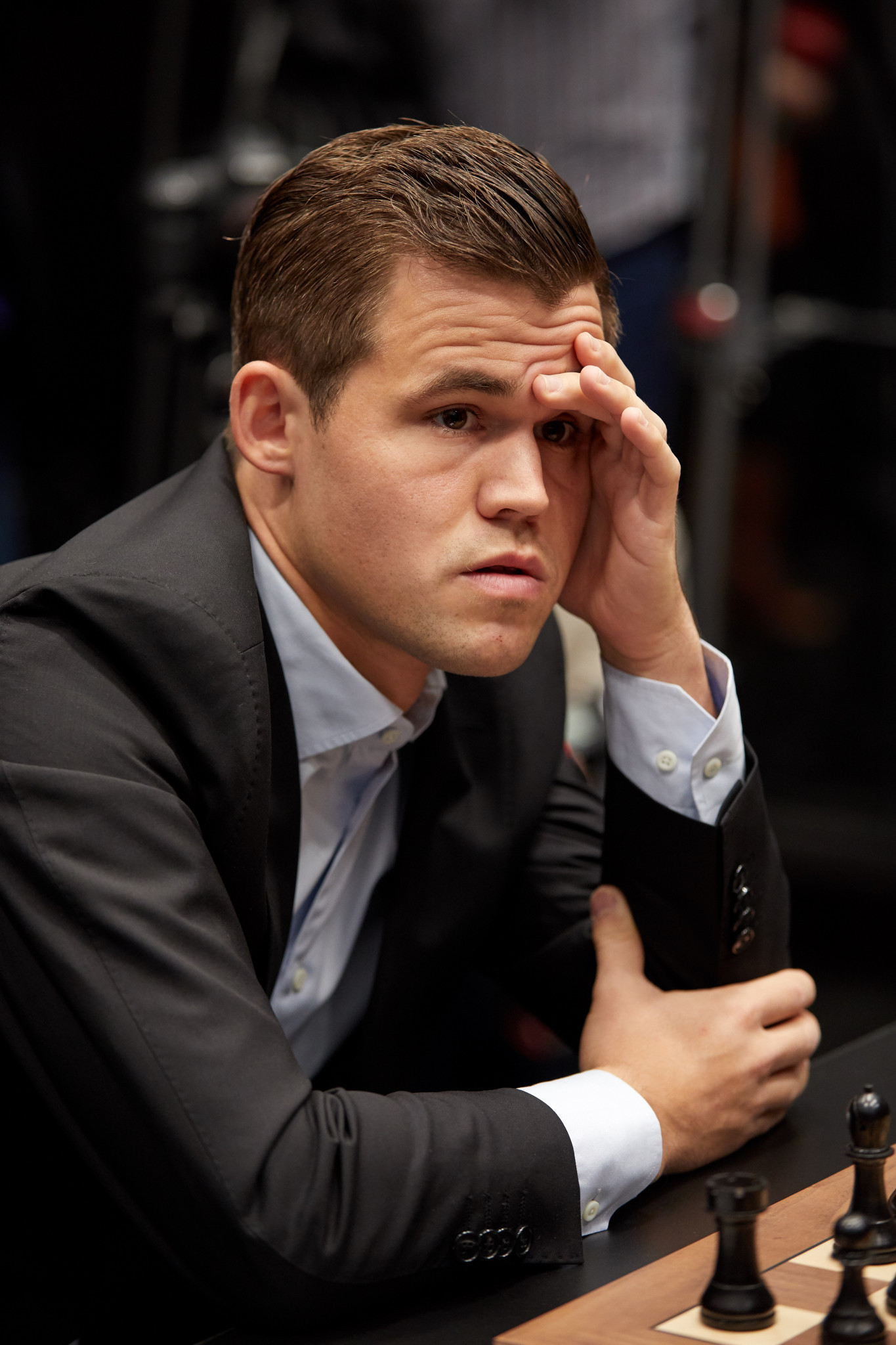 Defending world chess champion Magnus Carlsen said he was