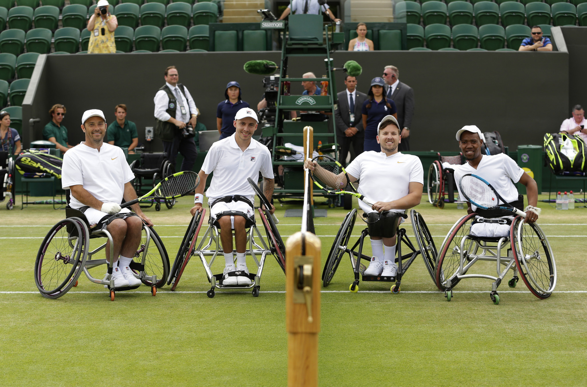 A quad doubles exhibition match took place at Wimbledon in 2018 ©Getty Images