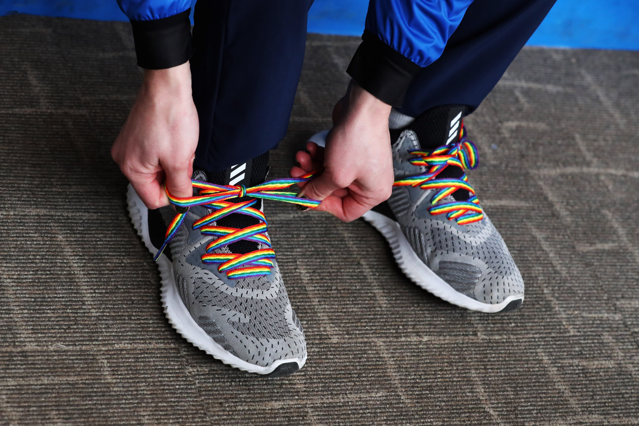 The rainbow laces campaign supports LGBT people ©Getty Images