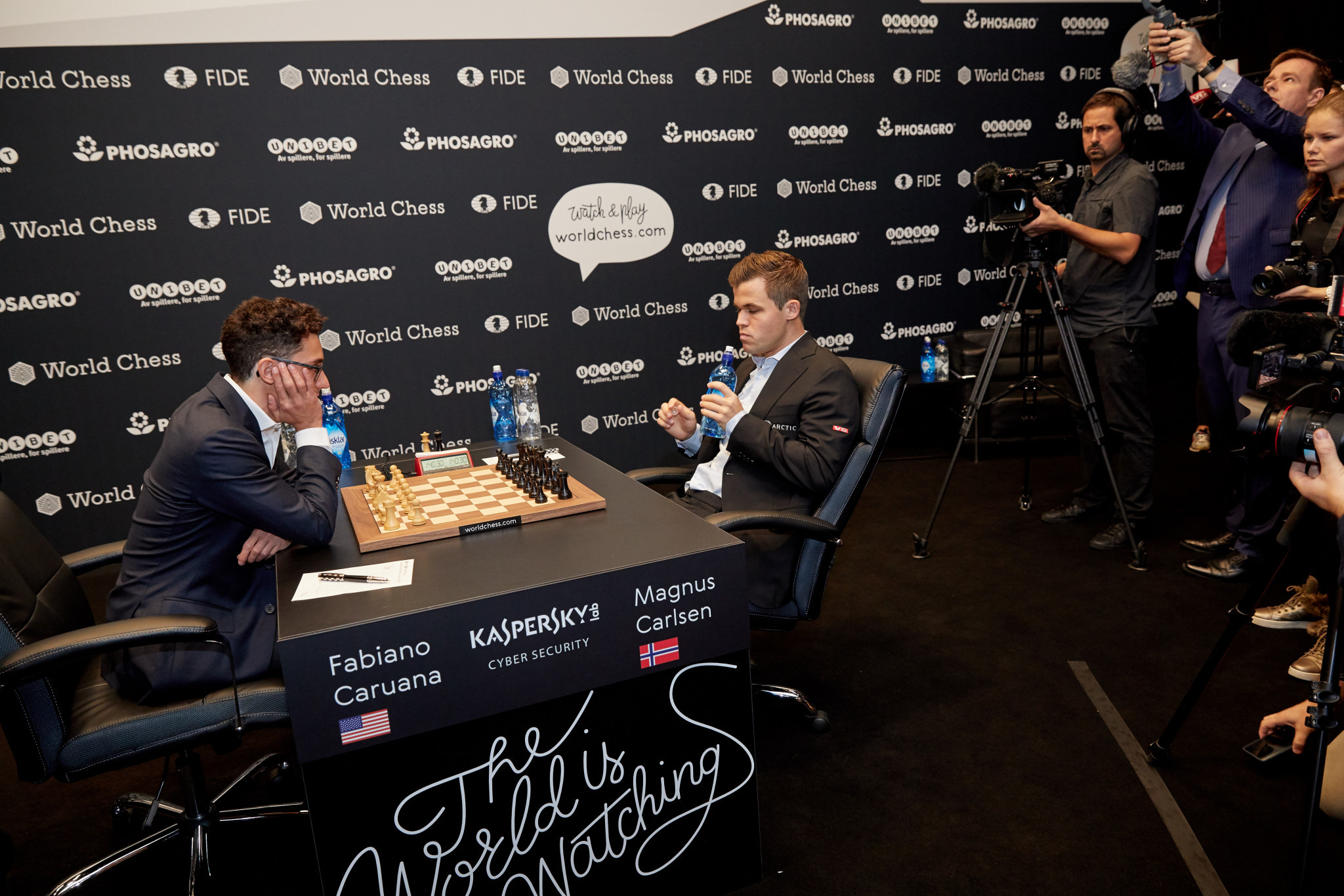 "Carlsen ""happy to survive"" as World Chess Championship match produces draw number eight"