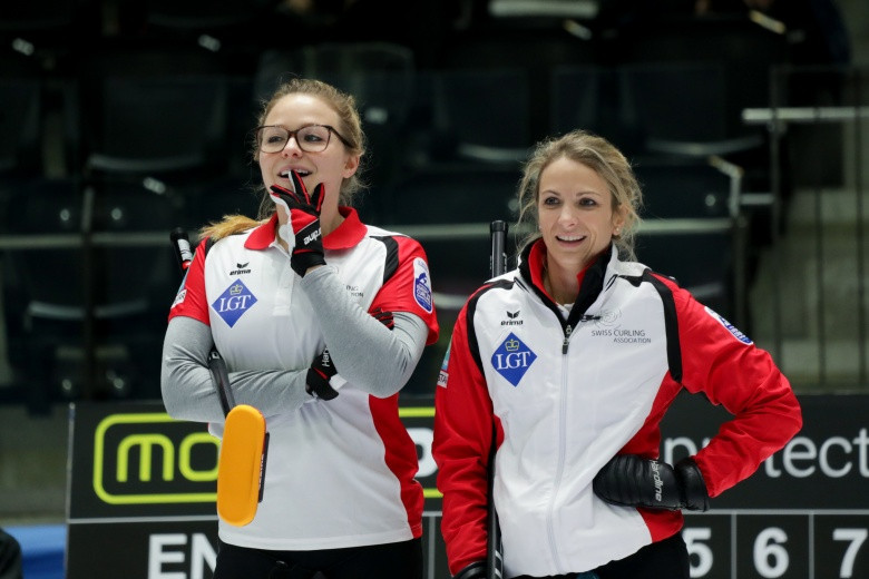 Switzerland defeated previously unbeaten Russia to stand as the only women's team with a 100 per cent record so far at the European Curling Championships in Tallinn, Estonia ©WCF