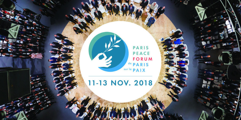 The work of the Taekwondo Humanitarian Foundation was showcased at the inaugural Paris Peace Forum ©THF
