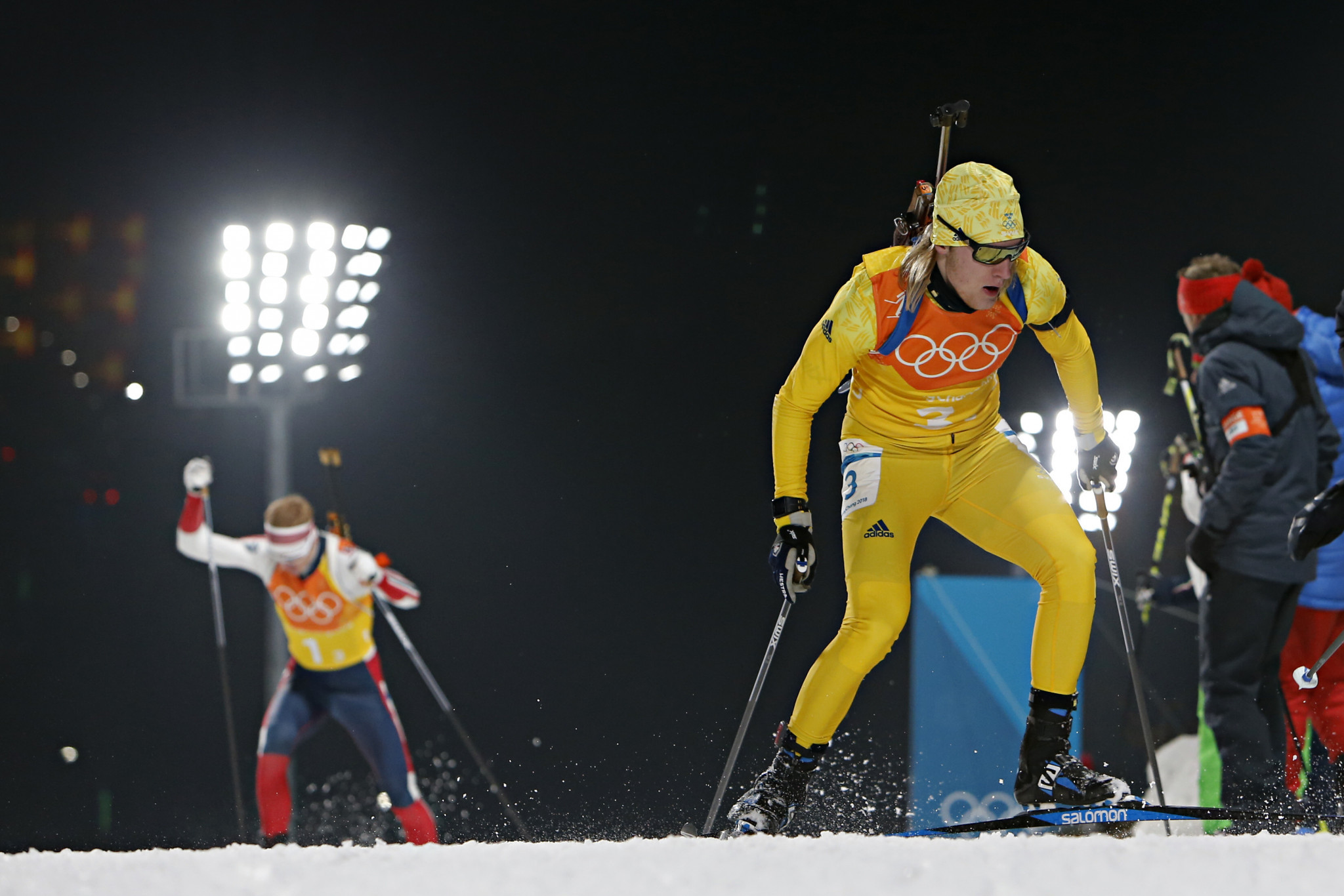 Biathlete Sebastian Samuelsson is excited by the prospect of competing at a home Winter Olympic Games in 2026 ©Getty Images