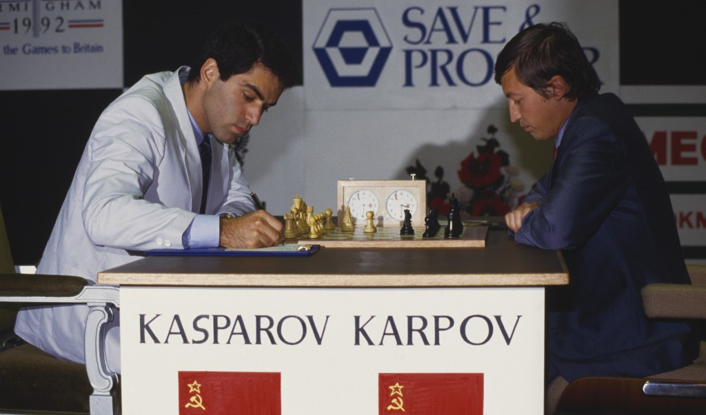 Anatoly Karpov and Garry Kasparov had an enduring chess rivalry ©Getty Images