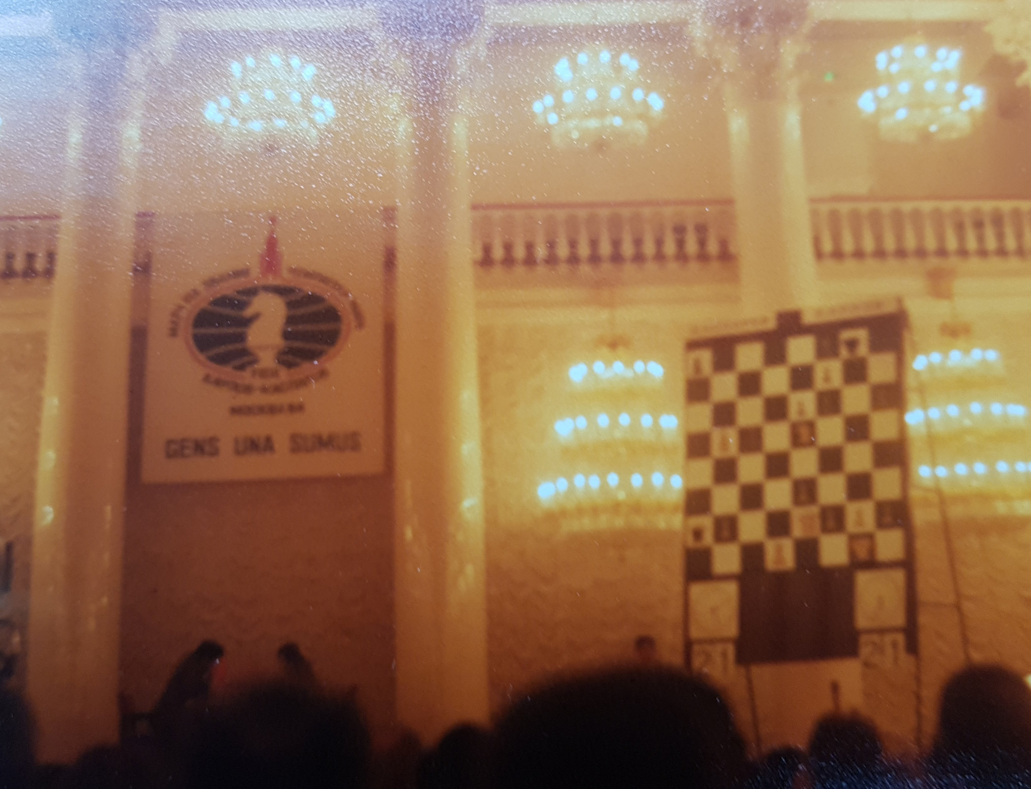 A blurred picture of David Owen's trip to the World Chess Championship in Moscow ©ITG