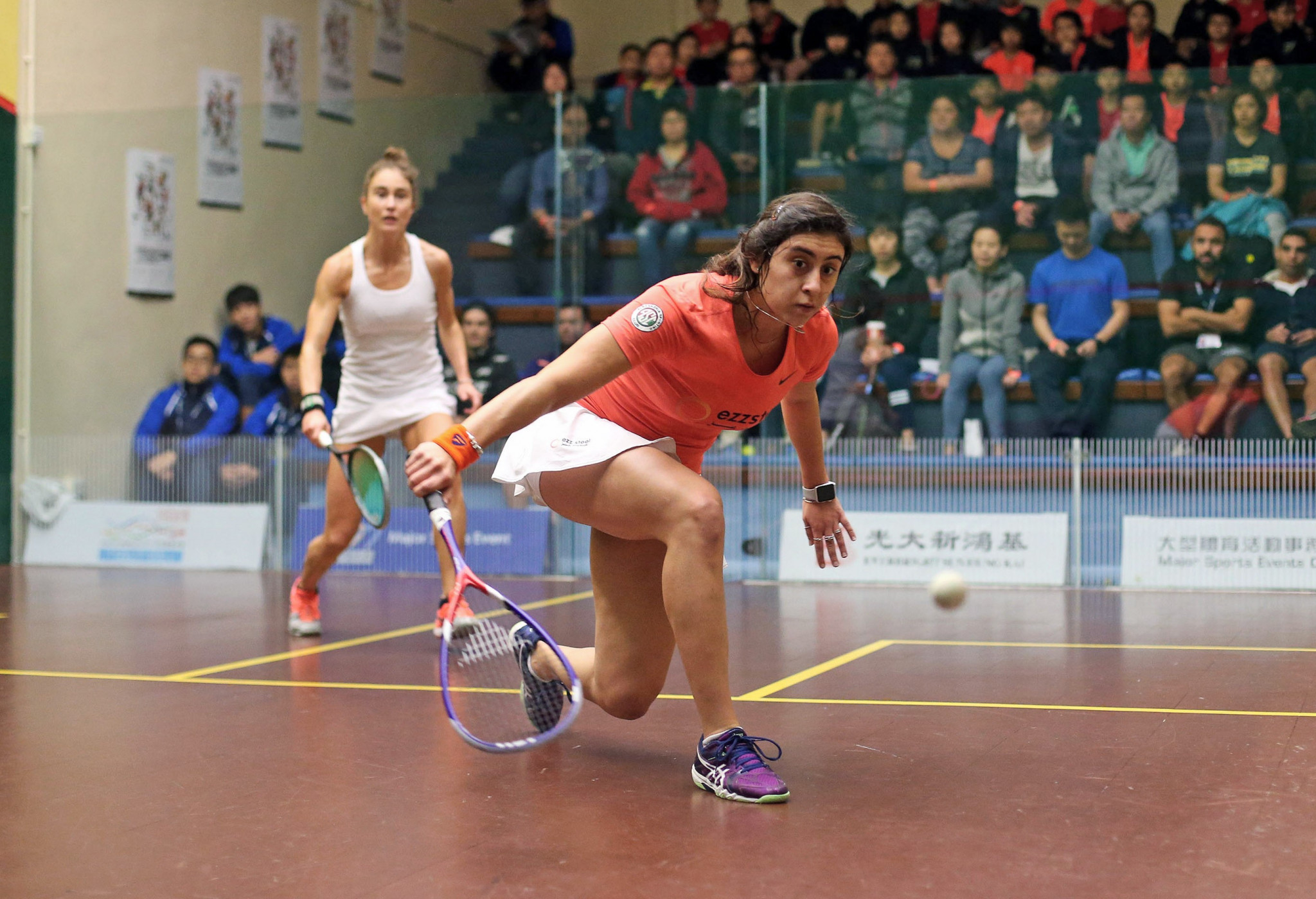 Egypt's Nour El Sherbini won her first game of the PSA Hong Kong Open to get her title defence underway ©PSA