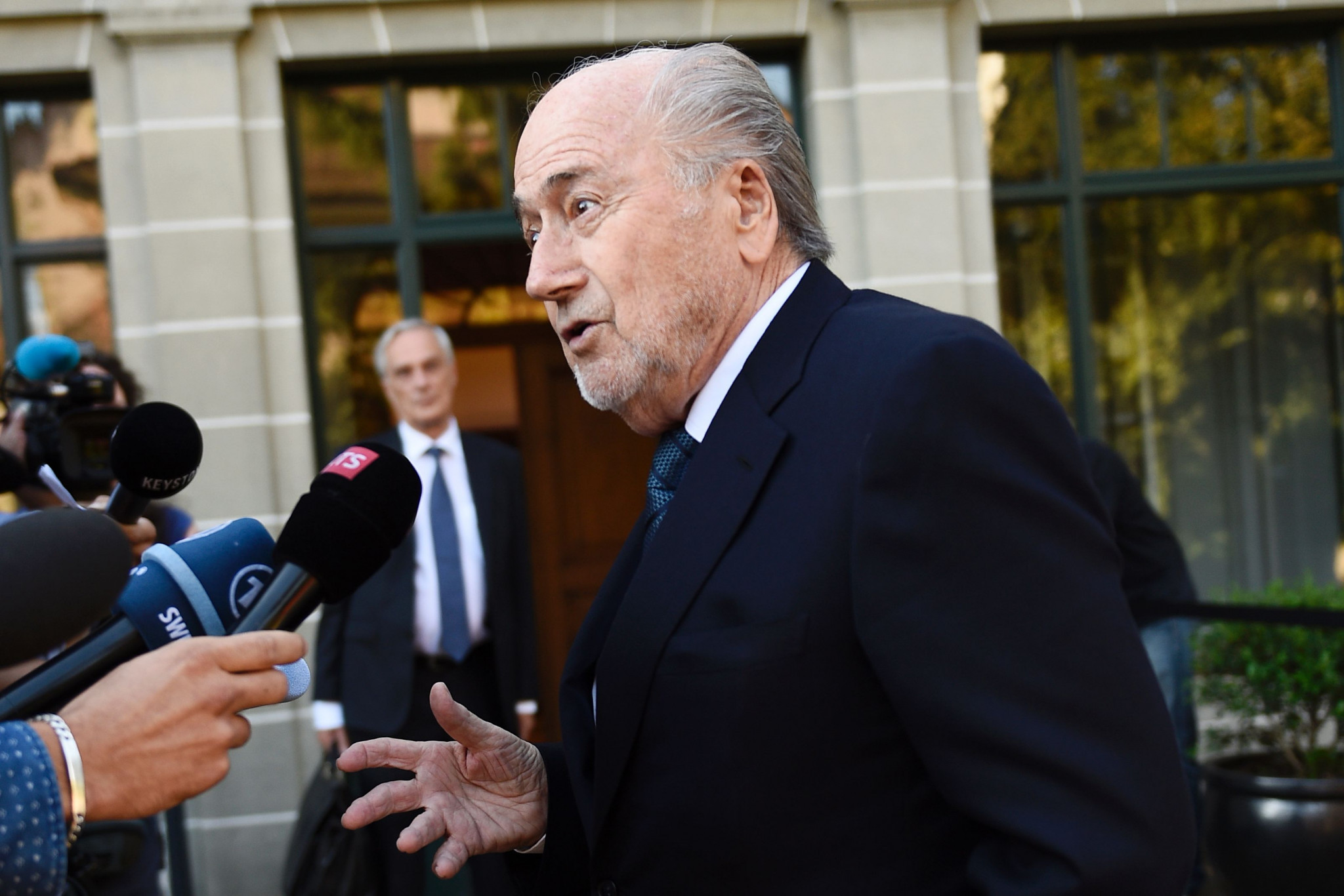 "Former FIFA President Blatter in hospital but ""getting better every day"""