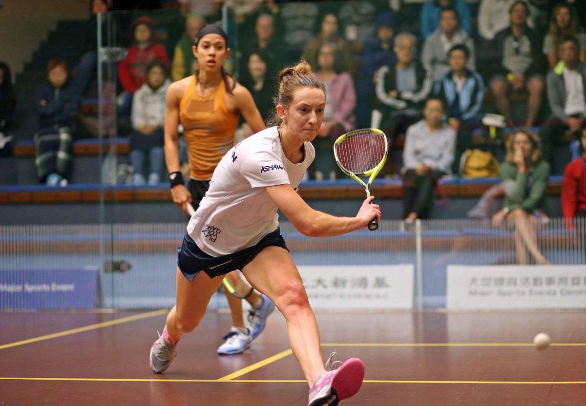 England's Millie Tomlinson shocked 10-time winner Nicol David of Malaysia to progress to the next round of the PSA Hong Kong Open ©PSA