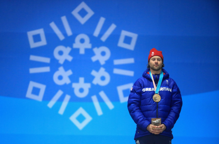 Britain's Pyeongchang 2018 snowboard big air bronze medallist Billy Morgan got delivered back to the Athletes Village in a supermarket trolley after over-celebrating his success ©Getty Images