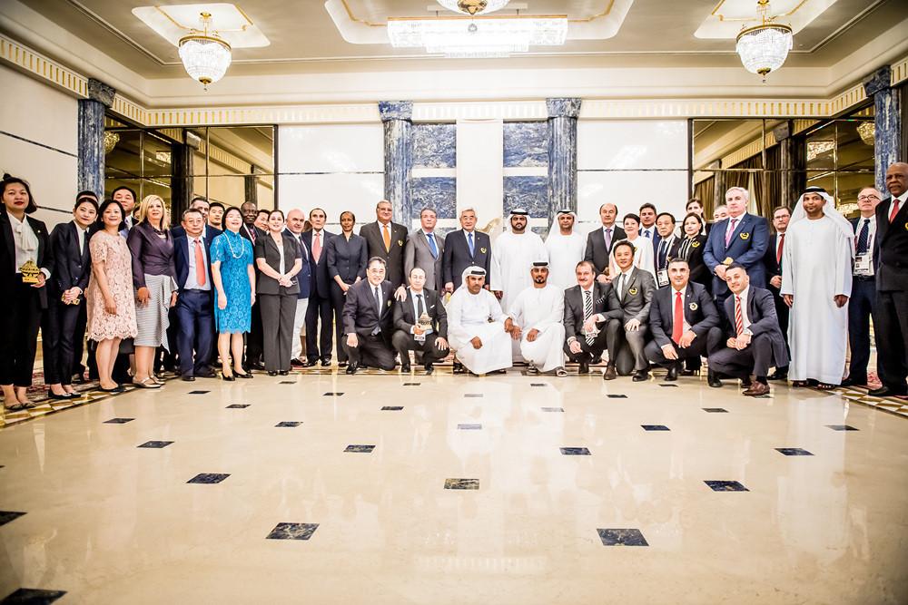 The presentation was made at the Rumailah Palace in Fujairah, United Arab Emirates ©World Taekwondo