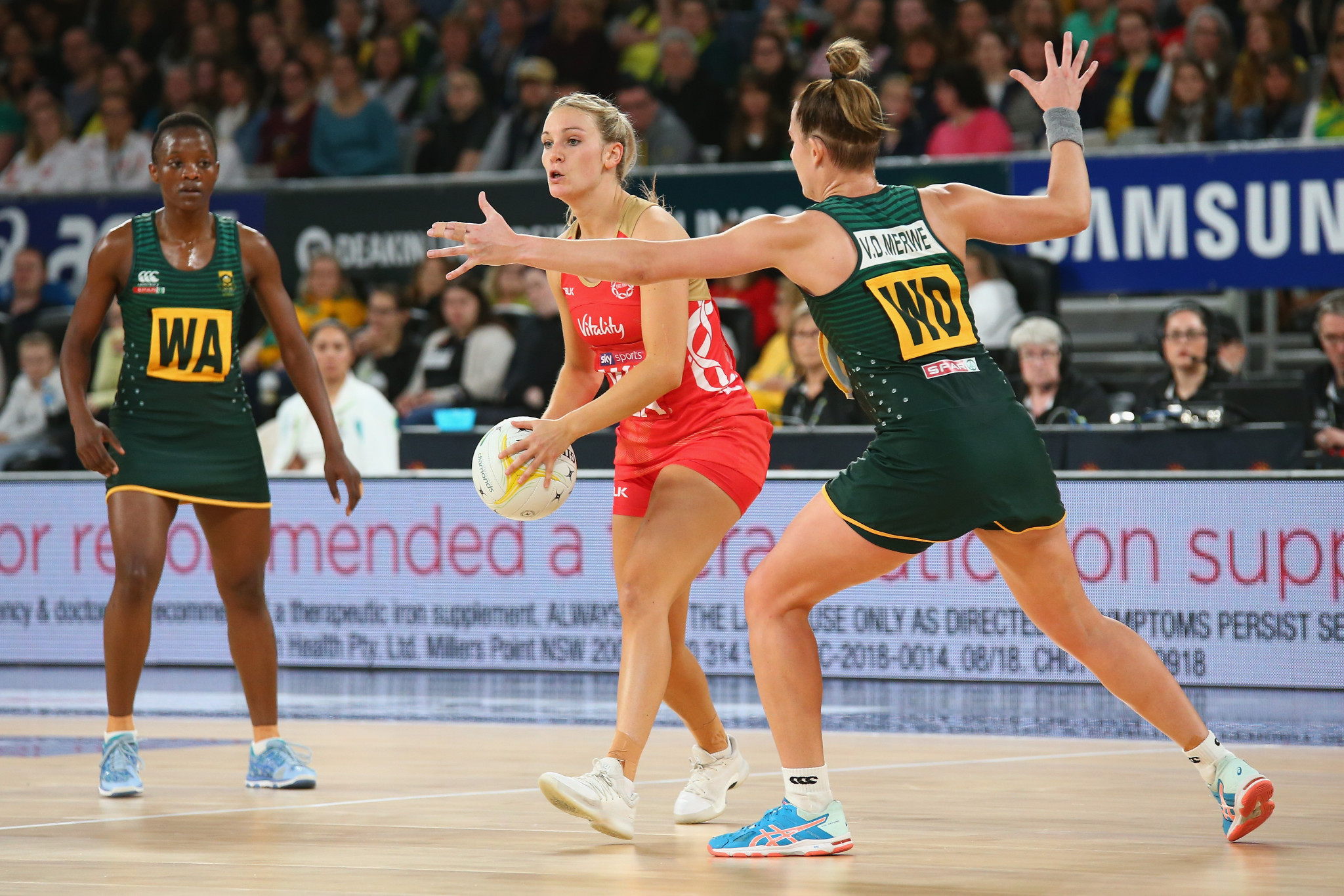 Vitality also sponsors the England netball team who will be hoping for success at their home World Cup ©Getty Images