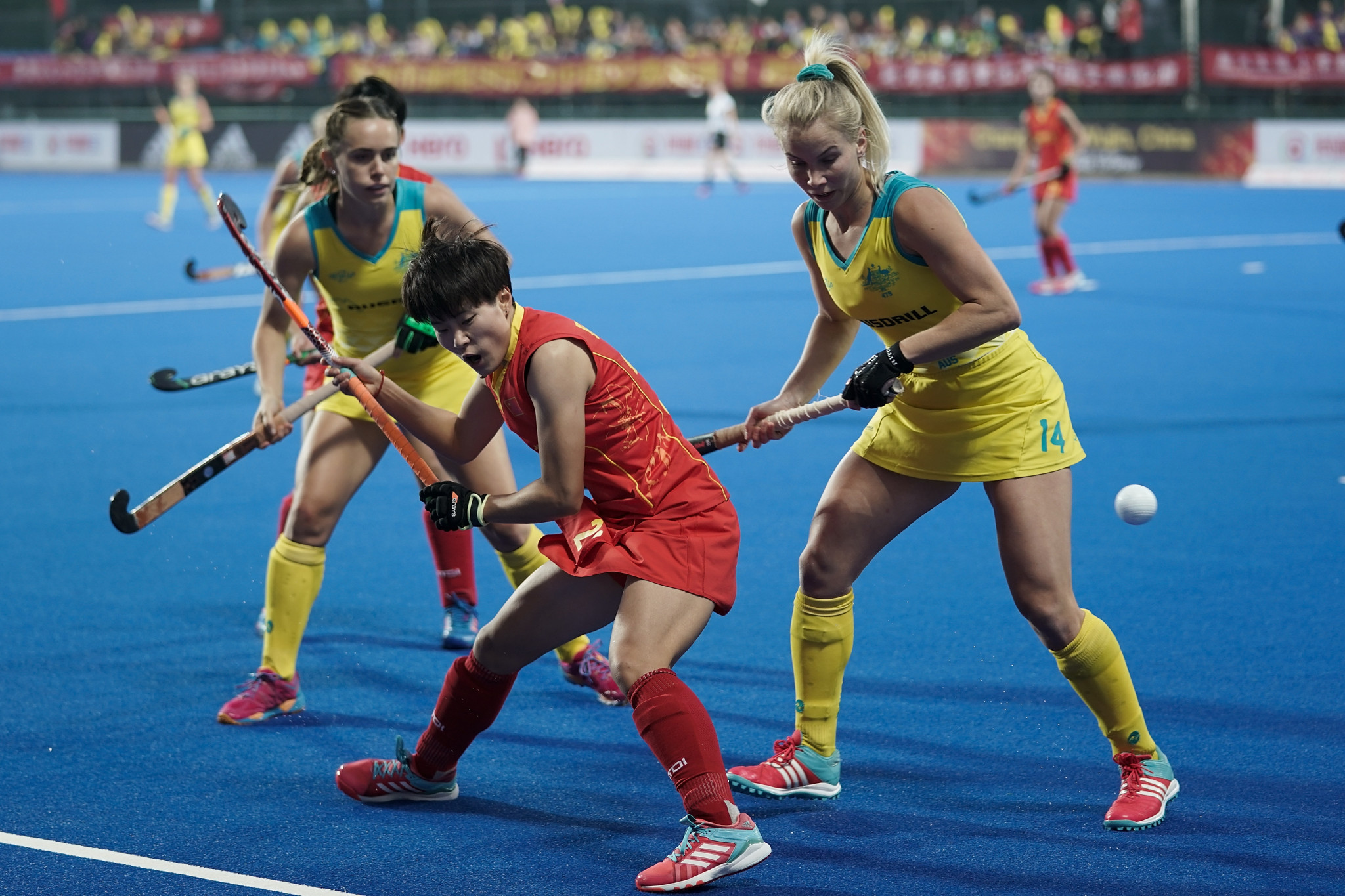 Australia and China played out a tense 0-0 draw today ©Getty Images