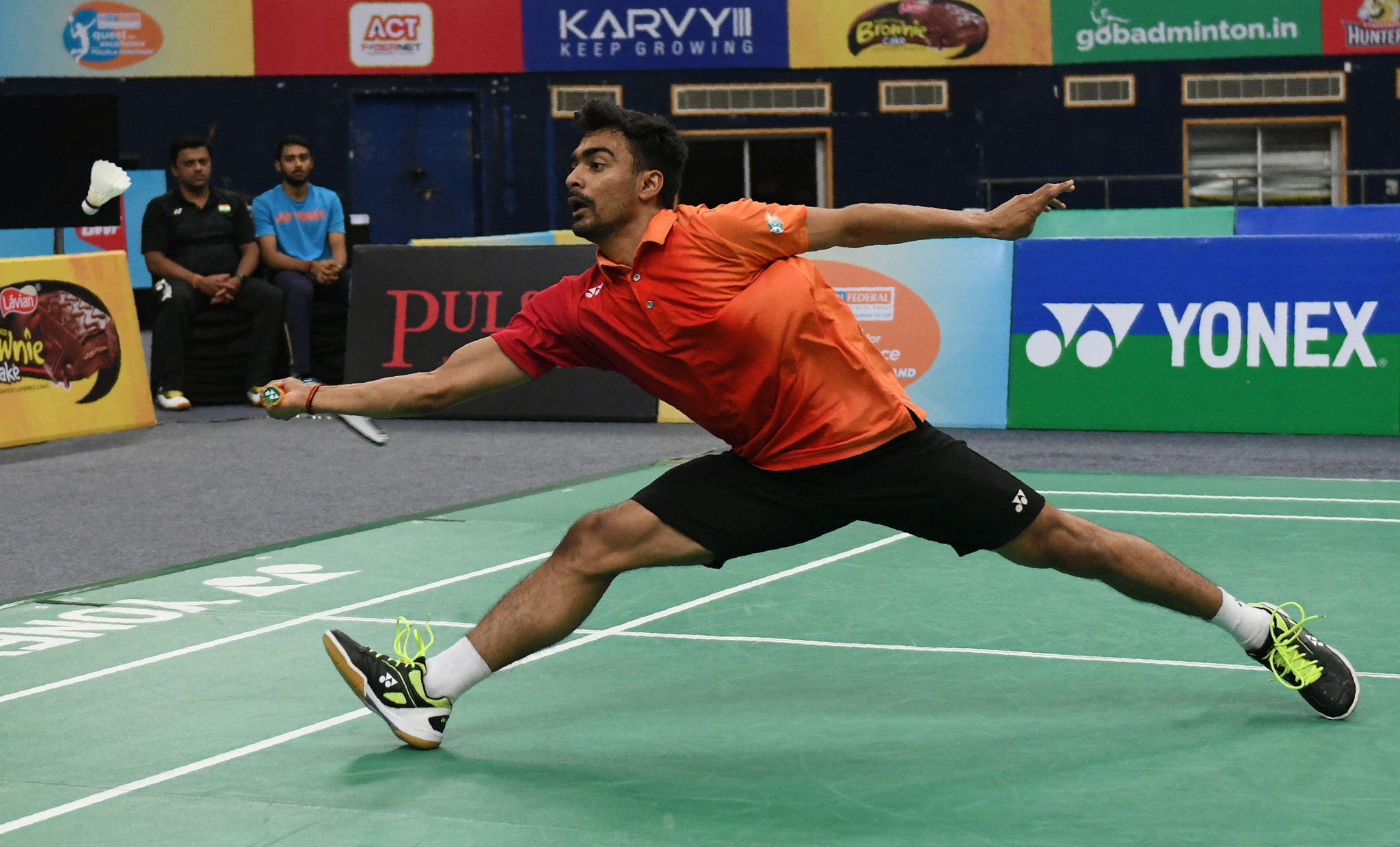 Sameer Verma will be hoping for home support to carry him through as the highest seed left in the men's single's competition ©Getty Images