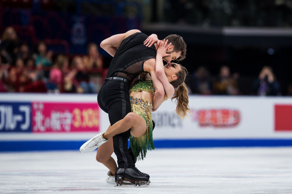 Gabriella Papadakis and Guillaume Cizeron have few hopes of qualifying for the season finale but compete at their home Grand Prix nonetheless ©ISU
