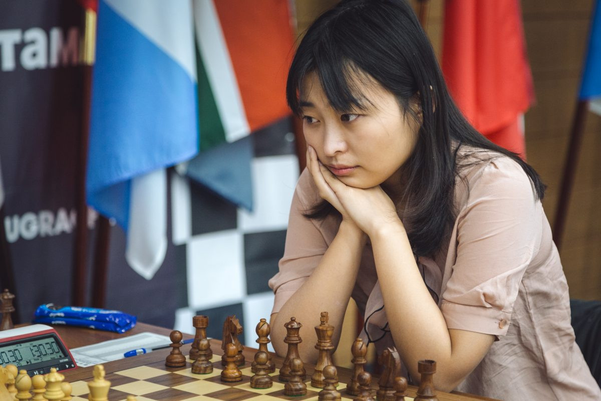 China's Ju Wenjun is back on level terms with Russia's Kateryna Lagno in the Women's World Chess Championship final ©Ugra 2018