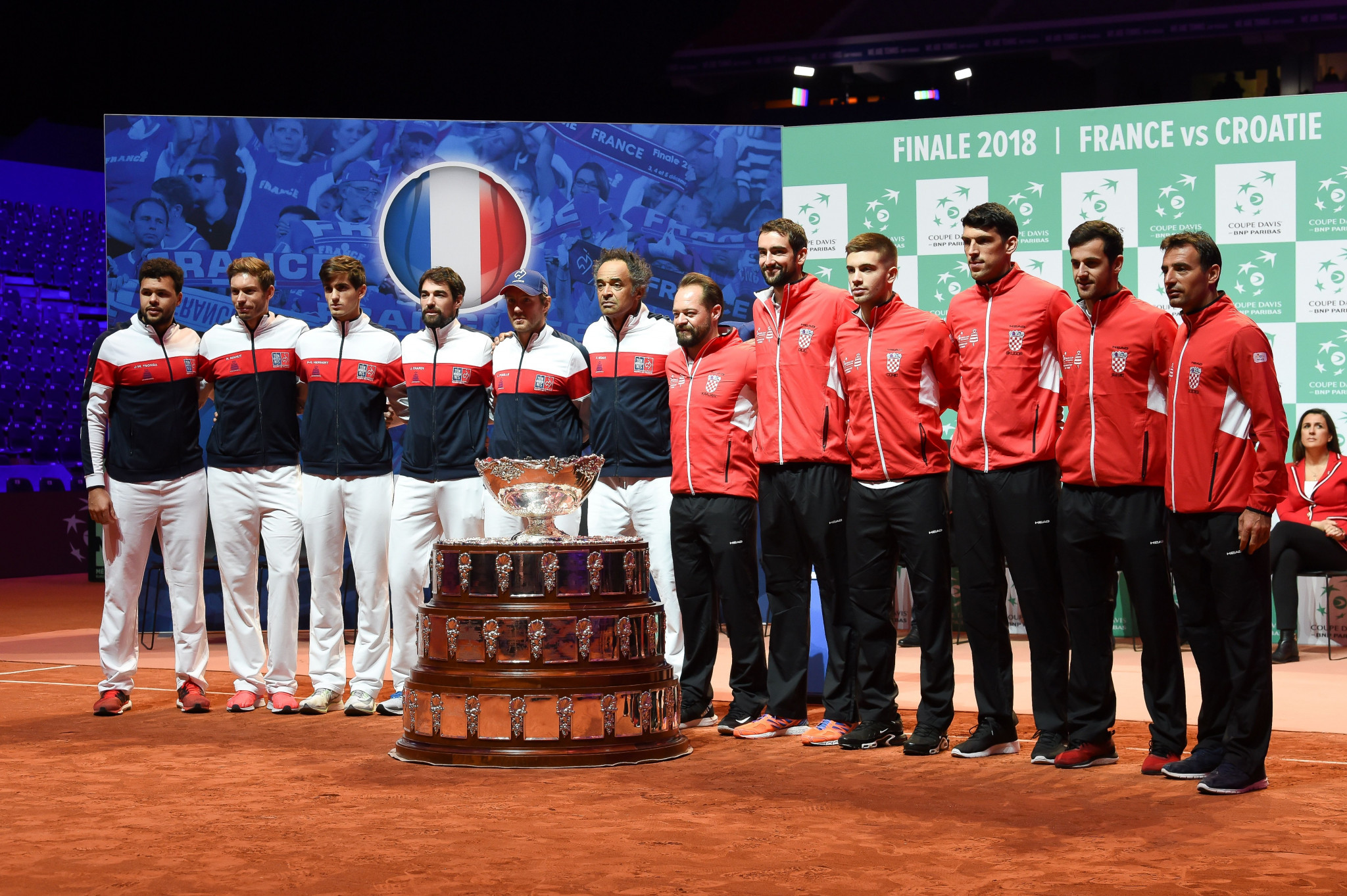 France and Croatia will battle it out in an historic Davis Cup final in Lille ©Getty Images