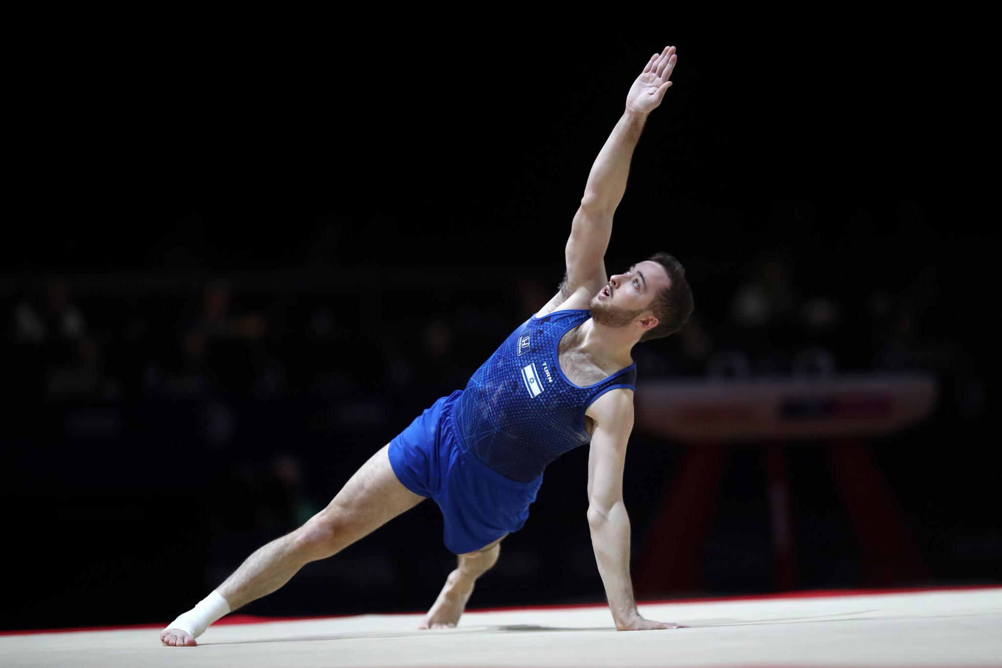 Israel's Artem Dolgopyat topped the men's floor exercise qualification standings as action begun today at the International Gymnastics Federation Individual Apparatus World Cup in Cottbus in Germany ©Getty Images