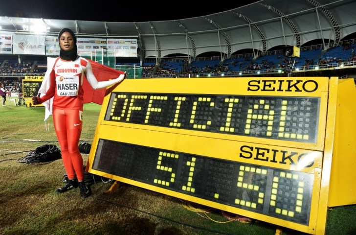Bahrain's Salwa Eid Naser bettered her women's 400m time of 51.50, set at this year's IAAF World Youth Championships in Cali, on her way to winning gold