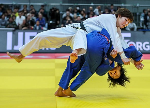 Uta Abe came out on top in the women's under-52kg category ©IJF