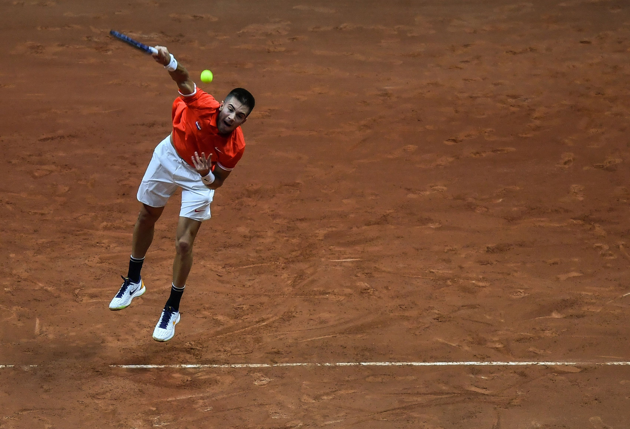 Borna Coric began the perfect first day for Croatia as they won both singles rubbers ©Getty Images