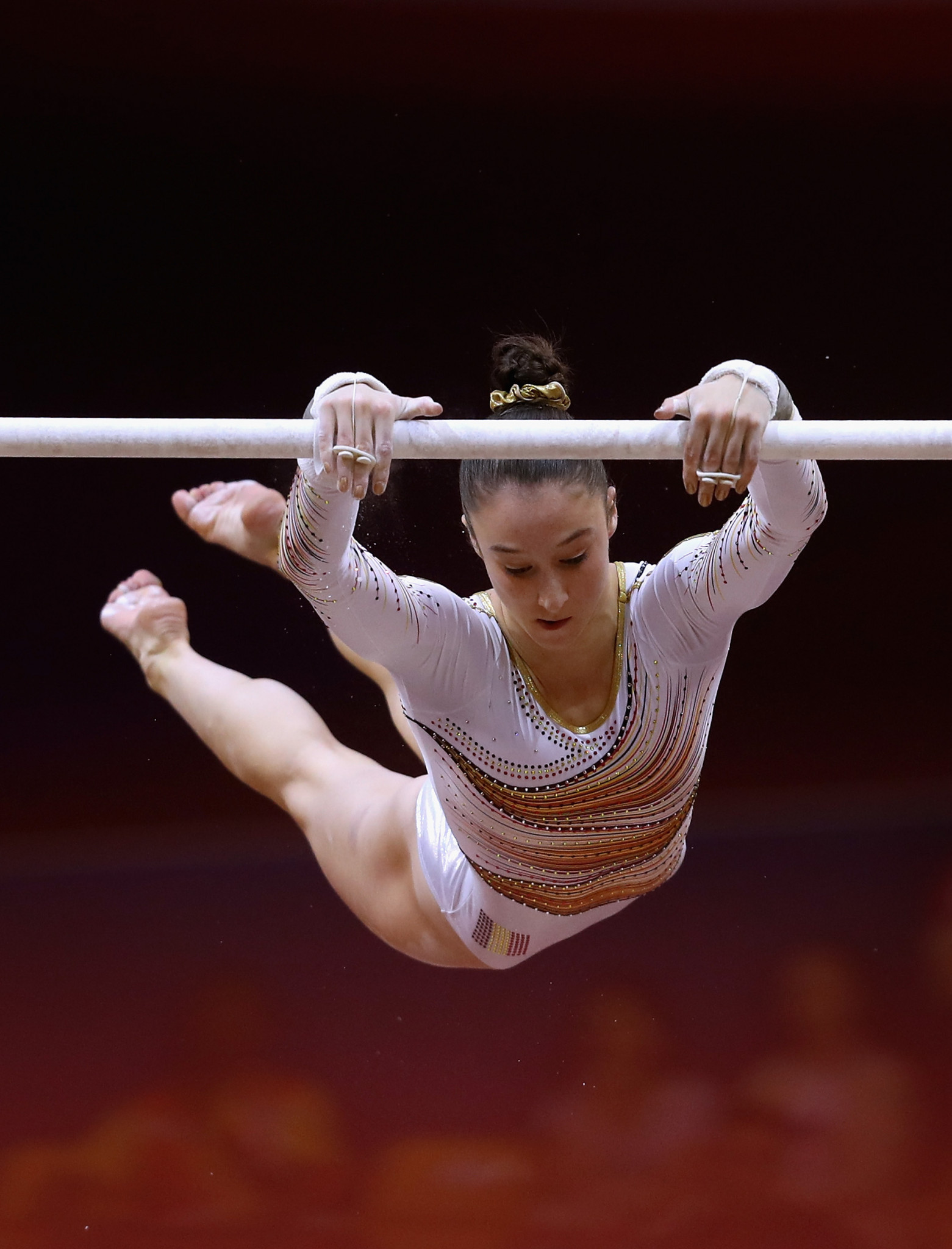 Belgium's Nina Derwael finished second in the uneven bars ©Getty Images