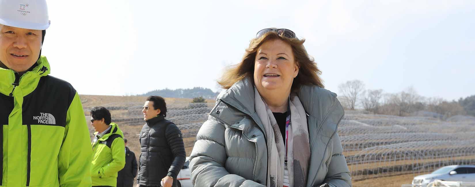 Gunilla Lindberg headed the IOC Coordination Commission for Pyeongchang 2018 ©SOK