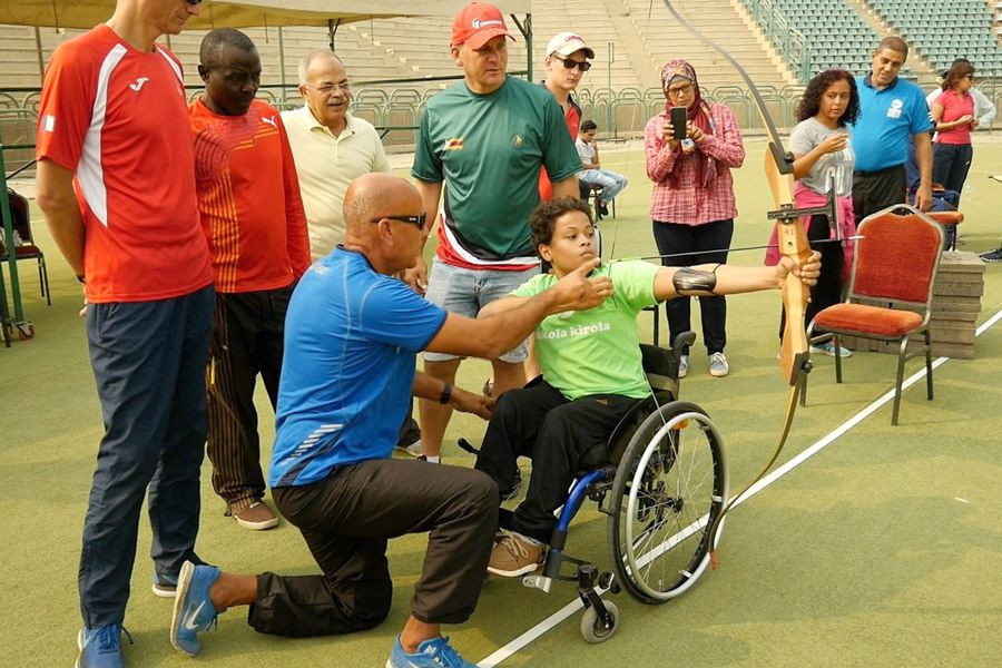 Some Para athletes, who had never shot an arrow before, were taught to do it for the first time ©World Archery