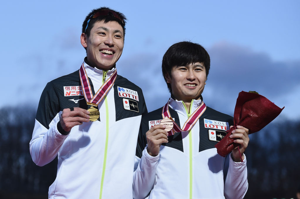 Shinhama secures second straight win at ISU Speed Skating World Cup in Tomakomai