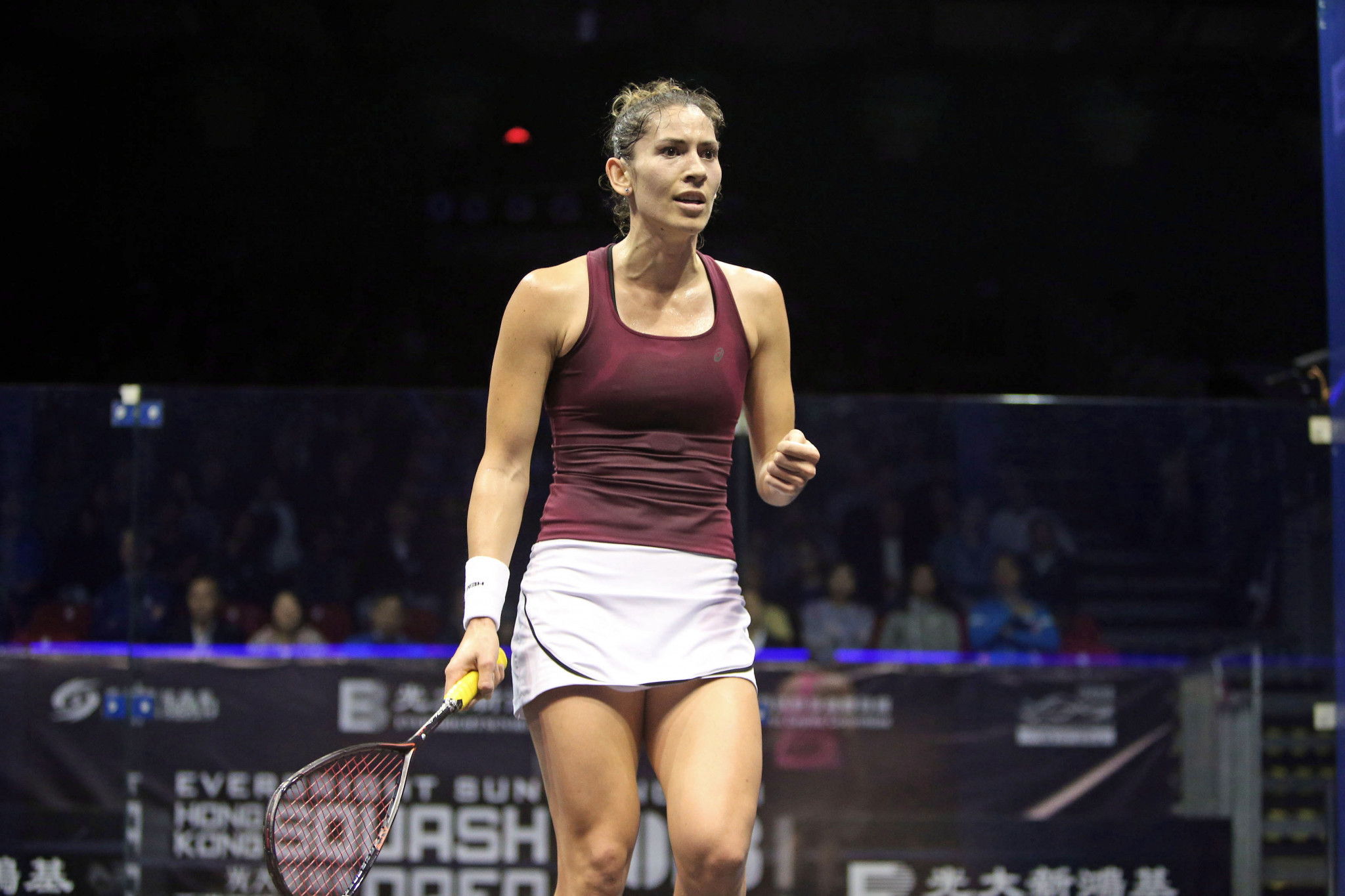 King beats Perry to reach women's final at PSA Hong Kong Open