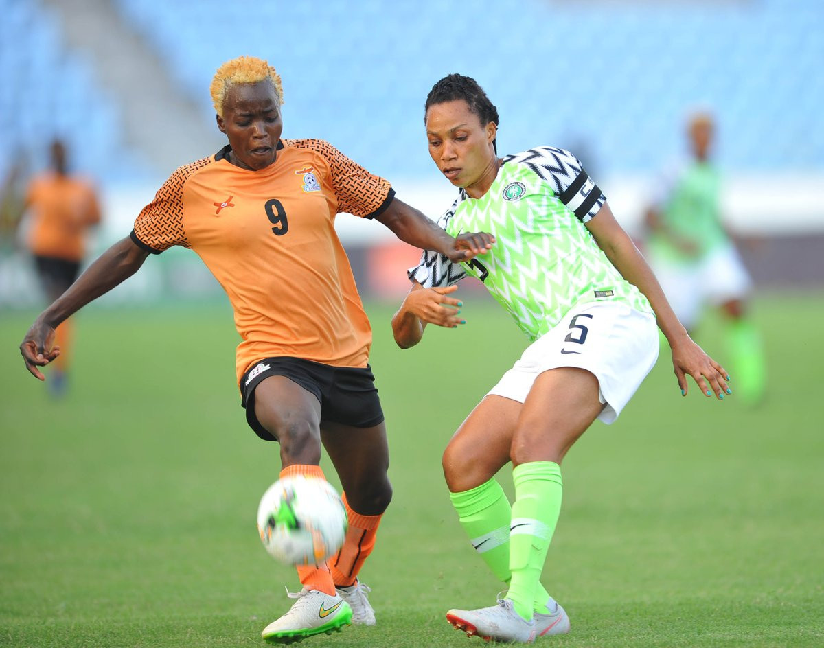 Nigeria thrashed Equatorial Guinea today 6-0 to advance into the semi-finals of the Women's Africa Cup of Nations ©CAF