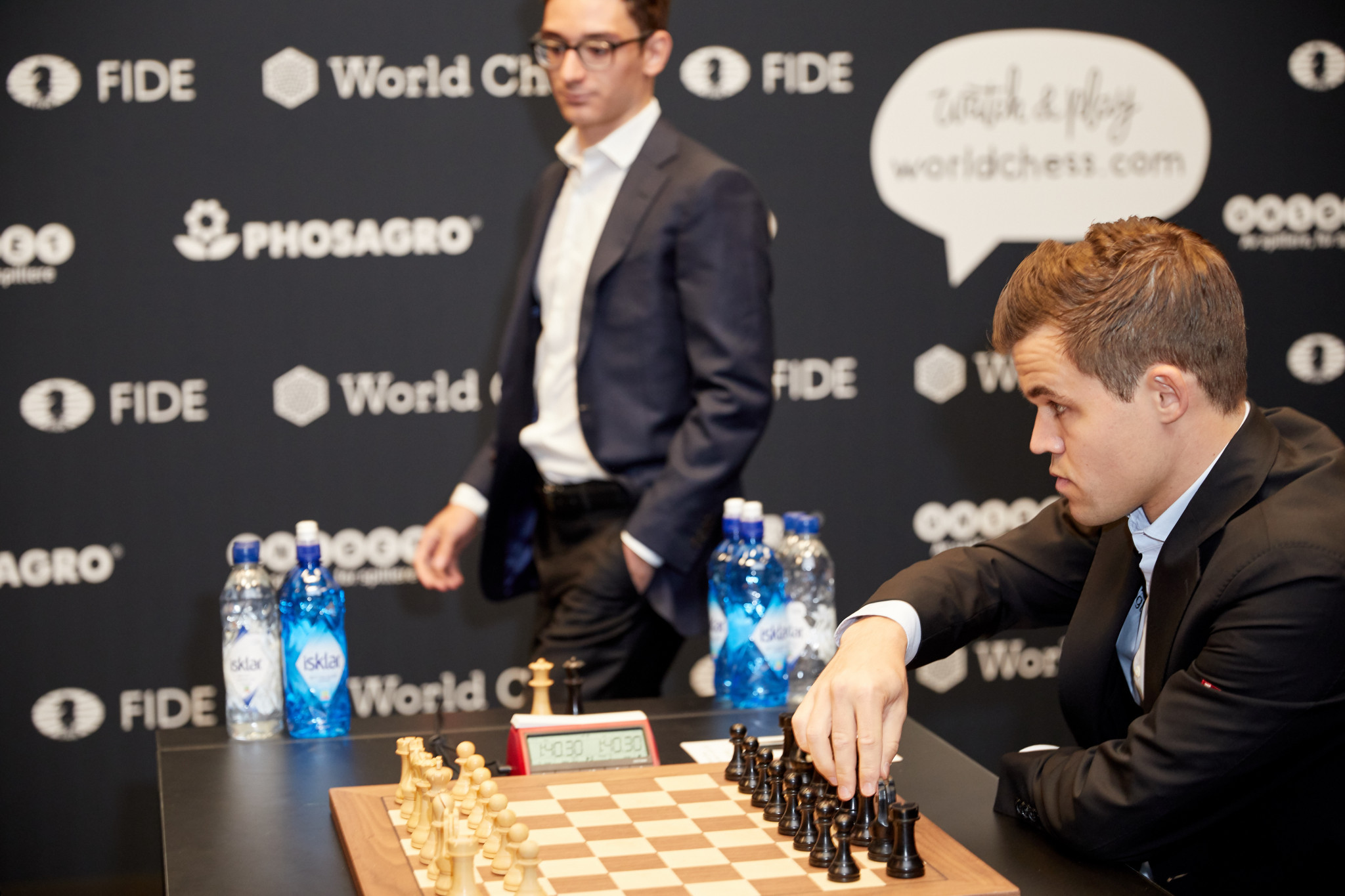 America's Fabiano Caruana is locked in a tense struggle with Norway's Magnus Carlsen for the World Chess Championship after a record 11 straight draws in London ©Getty Images