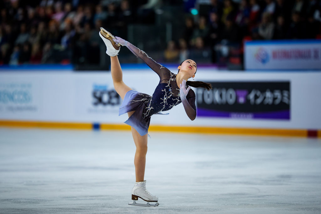 Japan's Rika Kihira won gold in the women's event at the ISU Grand Prix of Figure Skating in Grenoble ©ISU