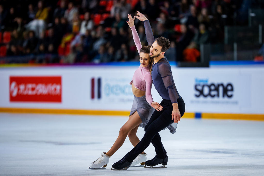France celebrate two gold medals at ISU Figure Skating Grand Prix in Grenoble