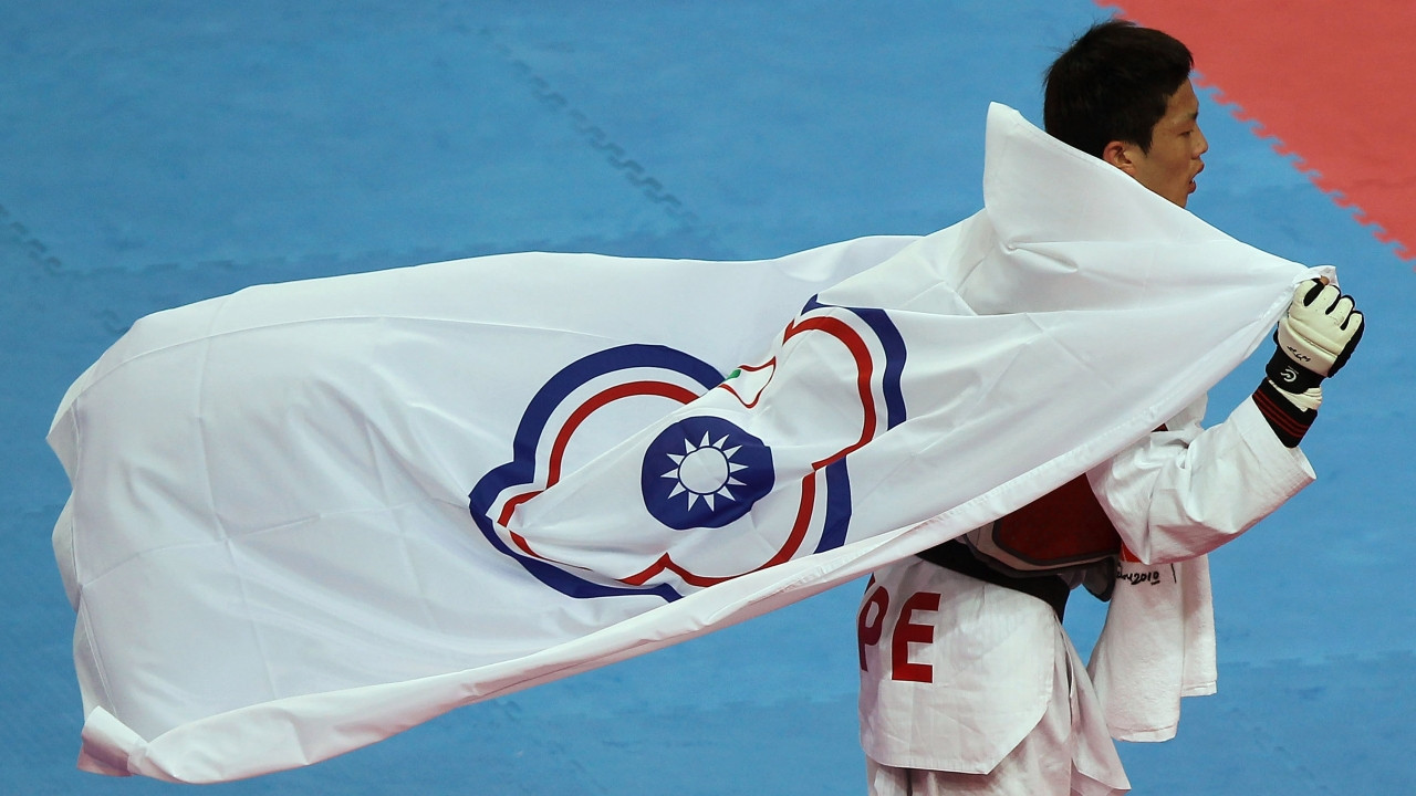 Athletes from Taiwan compete at the Olympic Games as Chinese Taipei and are not allowed to display their country's flag or hear its national anthem ©Getty Images