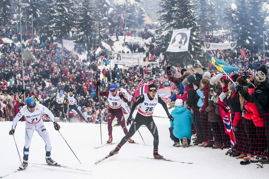Action from today's men's 15km class cross country ski race at the opening World Cup event of the season in Finland, in which Russia's Alexander Bolshunov added a second victory to the one achieved in the men's sprint yesterday ©Getty Images