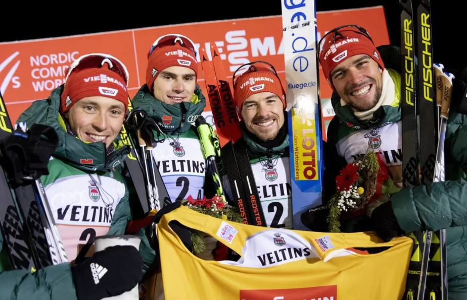 Germany overtook Japan to win the Team Event at the Nordic Combined World Cup at Ruka in Finland ©Getty Images