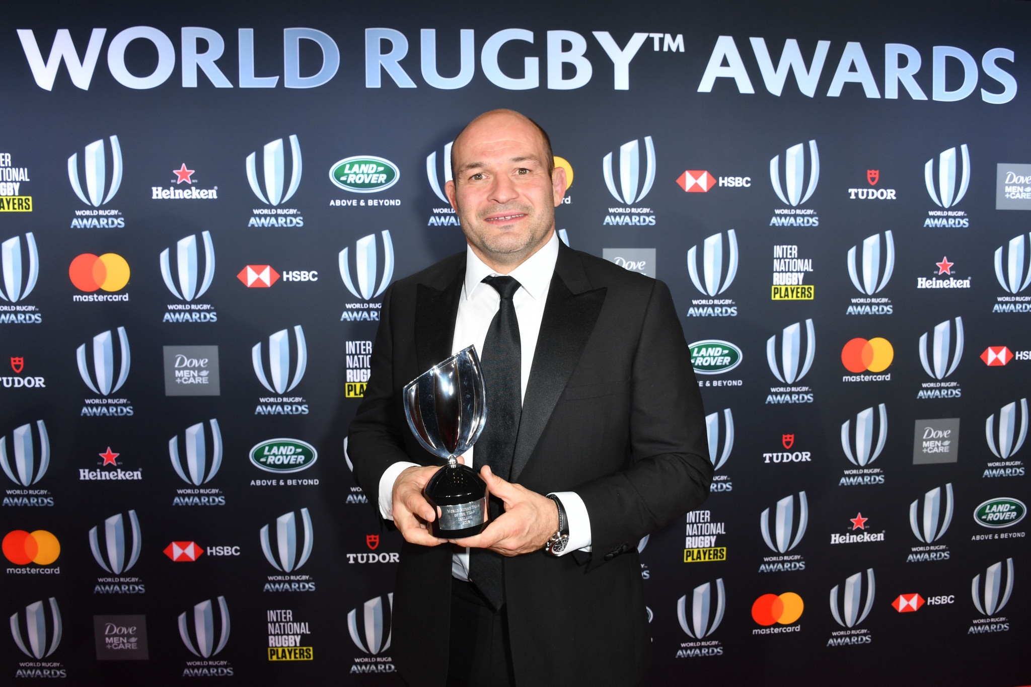 Irish captain Rory Best accepted the Team of the Year Award after they achieved their most successful ever year ©Getty Images